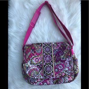 Vera Bradley Paisley Pink Messenger Bag NWOT